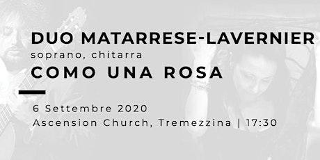 COMO UNA ROSA - Paola Matarrese (soprano), Christian Lavernier (chitarra) biglietti