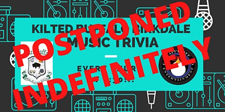 *Postponed Indefinitely* Thur Music Trivia at Kilted Buffalo Birkdale! tickets