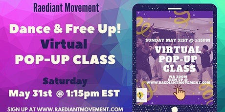 Dance and  Free Up! Virtual Dance Class tickets