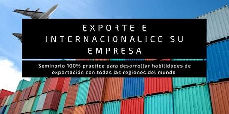 Seminario Online: Exporta e internacionaliza tu empresa (EN LÍNEA). tickets