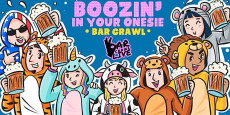 Boozin' In Your Onesie Bar Crawl | New York, NY - Bar Crawl Live tickets