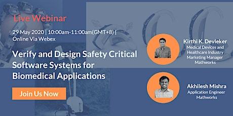 Verify, Design Safety Critical Software Systems for Biomedical Application entradas