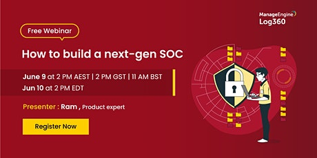 How to build a next-gen SOC Tickets