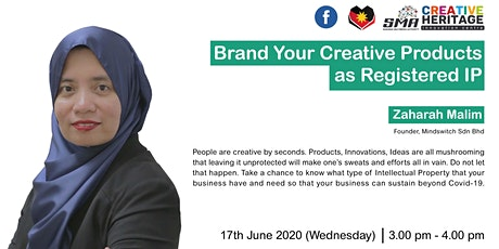 [WEBINAR] Brand Your Creative Products As Registered IP tickets