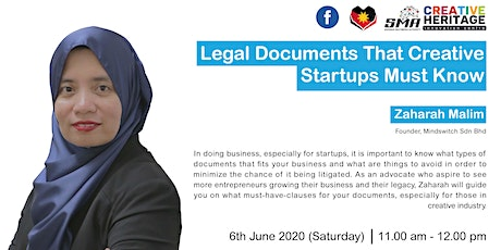 [WEBINAR] Legal Documents That Creative Startups Must Know tickets
