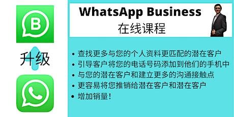 WhatsApp Business 为营业员(Sales)而设计的在线培训班 tickets