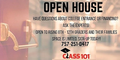 Class 101 Chesapeake Open House July 25th tickets