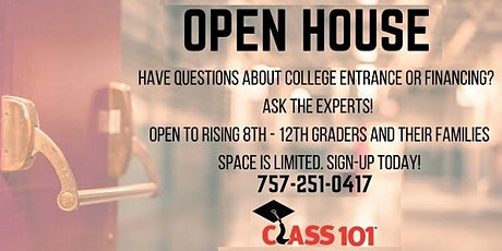 Class 101 Chesapeake Open House August 13th tickets