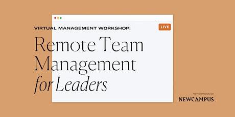 Management Workshop | Remote Team Management for Leaders tickets