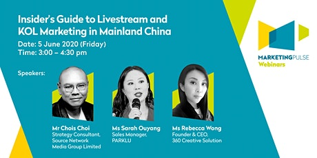 Insider's Guide to Livestream and KOL Marketing in Mainland China tickets