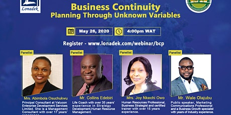 FREE Webinar on Business Continuity Planning tickets
