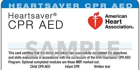 Heartsaver CPR & AED Training tickets