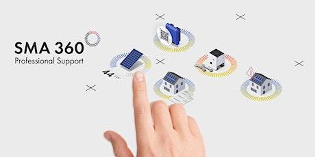 Webinar: SMA 360° App - Optimale ondersteuning bij de planning, werking en service van zonnestroominstallaties  tickets