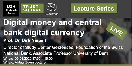 Lecture Series (online): Digital money and central bank digital currency tickets