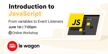 #CodeFromHome: Introduction to JavaScript - Online Workshop tickets