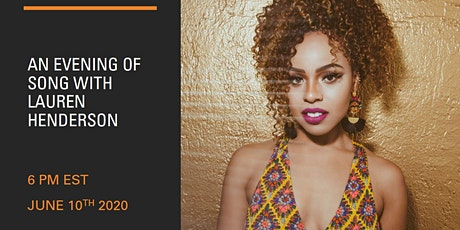 An Evening of Song with Lauren Henderson - North America tickets