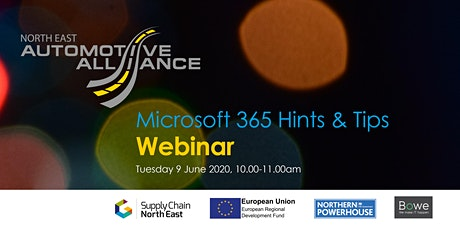 Microsoft 365 Hints & Tips Webinar with Bowe tickets
