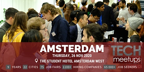 Amsterdam Tech Job Fair Autumn 2020 by Techmeetups tickets