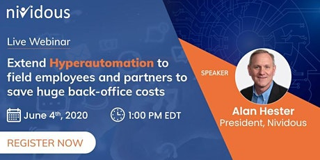 Live Webinar On Hyperautomation tickets