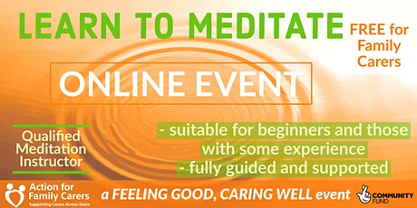LEARN TO MEDITATE - FREE FOR FAMILY CARERS tickets