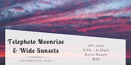 Moonrise & Sunset Long Exposure - Burns Beach tickets