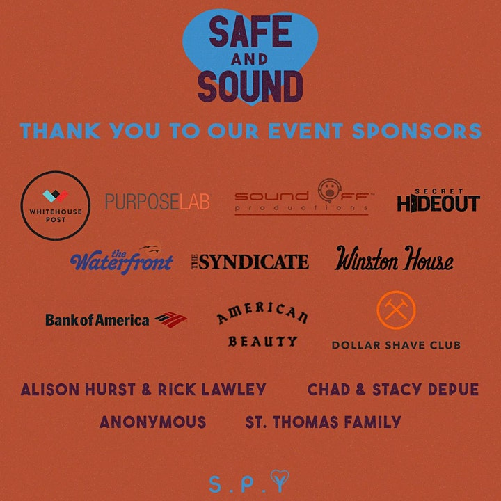 Safe and Sound - Safe Place for Youth Virtual Benefit Concert image