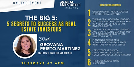 The Big 5: The 5 Secrets To Success For New Real Estate Investors tickets