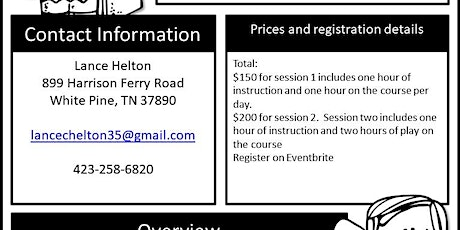Baneberry Golf Camp with Coach Lance Helton 3rd-5th Grade tickets