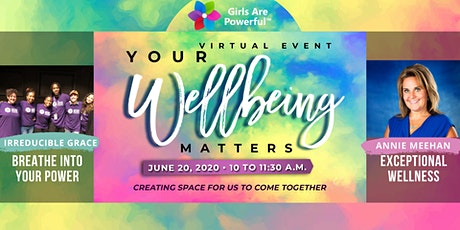 """""""Your Wellbeing Matters!"""": June 20th Session - Virtual Event tickets"""