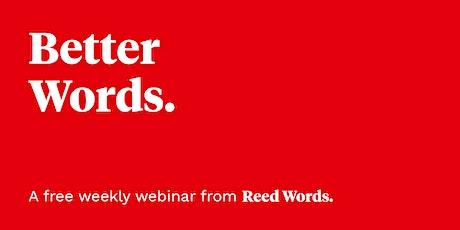 Better Words: Writing for startups boletos