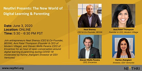 Neythri Presents: The New World of Digital Learning & Parenting tickets