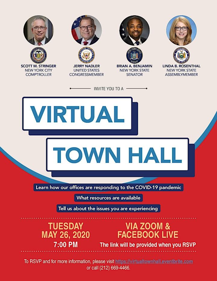 Virtual Town Hall w/ S. Stringer, J. Nadler, B. Benjamin and L. Rosenthal image