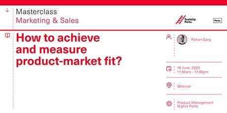 Masterclass | How to achieve and measure product-market fit? tickets