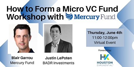 How to Form a Micro VC Fund Workshop with Mercury Fund Tickets