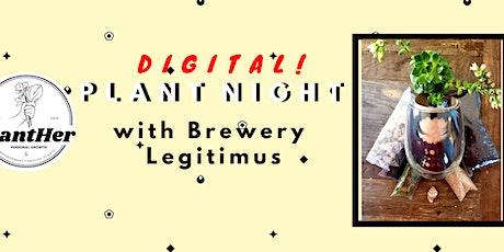 Digital DIY Succulent Terrarium- PlantHer's Plant Night w/Brewery Legitimus tickets