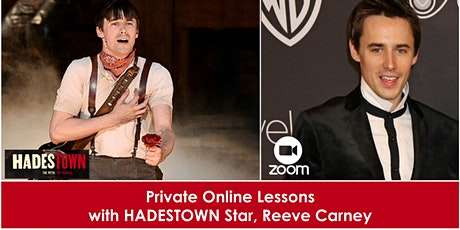 Private Online Lessons with HADESTOWN Star, Reeve Carney tickets