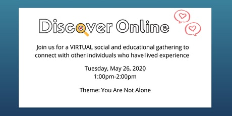 Discover Online for Peers: You Are Not Alone tickets