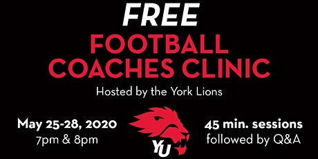 York Lions Football Coaches Clinic tickets