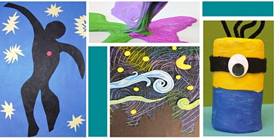 Kidcreate Art Kits - Clay Minion, Starry Night on Canvas, Matisse Cut-Out and Slime Time (5/20-5/26)