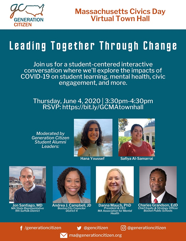 Massachusetts Civics Day Virtual Town Hall: Leading Together Through Change image