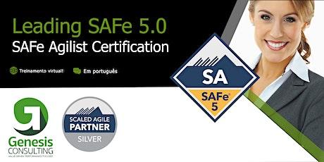 Leading SAFe 5.0 certificação SAFe Agilist - Live OnLine - Português bilhetes