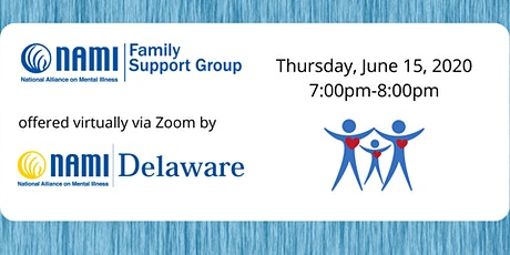 Monday NAMI Delaware Virtual Family Support Group tickets