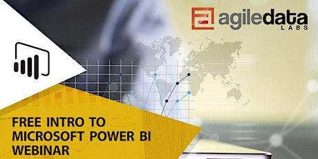 Free Intro to Microsoft Power BI Webinar entradas