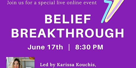 BELIEF BREAKTHROUGH with KK tickets
