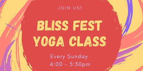 BLISS FEST ONLINE:Yoga & Meditation Classes tickets