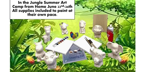 Visit the Jungle from Home, Summer Art Camp Age Group 2-5 tickets