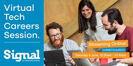 Virtual Tech Careers Session - Christchurch 6 June tickets