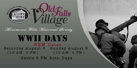 WWII Days at Old Falls Village Rescheduled to August tickets