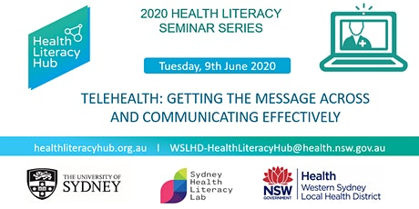 2020 Health Literacy Seminar 2: Telehealth: Getting the message across and communicating effectively tickets