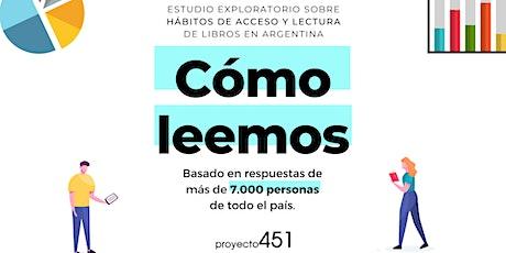 Cómo leemos: estudio de hábitos de acceso y lectura de libros en Argentina entradas